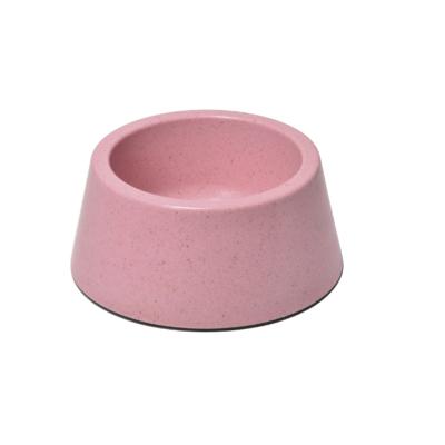 RECORD BAMBOO Bambusz-műanyag etetőtál Rózsaszín 12.6*15.2*6.5 cm 350 ml