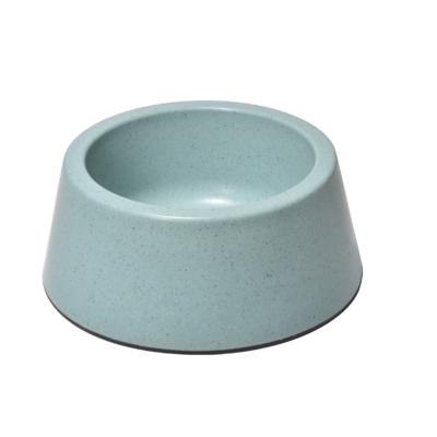 RECORD BAMBOO Bambusz-műanyag etetőtál Türkizkék 15.2*18.3*7.5 cm 630 ml
