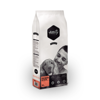 AMITY kutyatáp lazac-rizs 15 kg