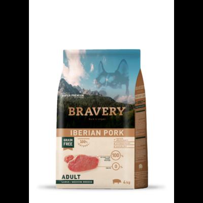 BRAVERY HIPOALLERGÉN kutyatáp ibériai sertés 4 kg (GABONAMENTES)