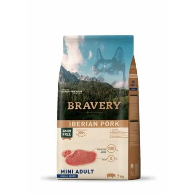 BRAVERY HIPOALLERGÉN kutyatáp ibériai sertés 7 kg (GABONAMENTES)