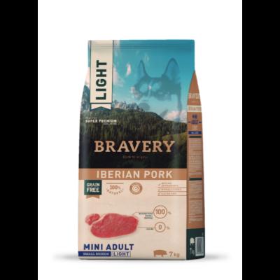 BRAVERY HIPOALLERGÉN kutyatáp KISTESTŰ kutyáknak ibéria sertés Light 7kg (GABONAMENTES)