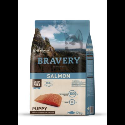 Bravery Puppy Salmon Large/Medium Breeds 12kg kutyatáp