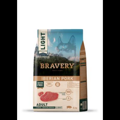 BRAVERY HIPOALLERGÉN kutyatáp ibériai sertés Light 4kg (GABONAMENTES)