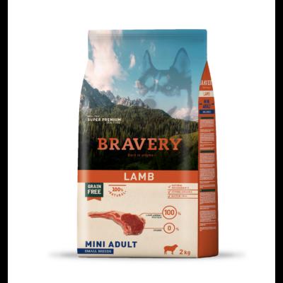 BRAVERY HIPOALLERGÉN kutyatáp KISTESTŰ kutyáknak bárány 2 kg (GABONAMENTES)