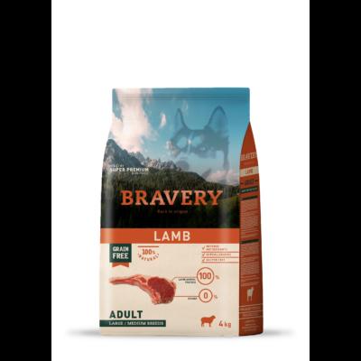 BRAVERY HIPOALLERGÉN kutyatáp bárány 4 kg (GABONAMENTES)