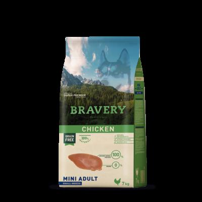 BRAVERY HIPOALLERGÉN kutyatáp csirke 12 kg (GABONAMENTES)