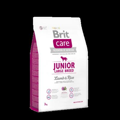 Brit Care HIPOALLERGÉN JUNIOR kutyatáp NAGYTESTŰ kutyáknak bárány-rizs 3 kg