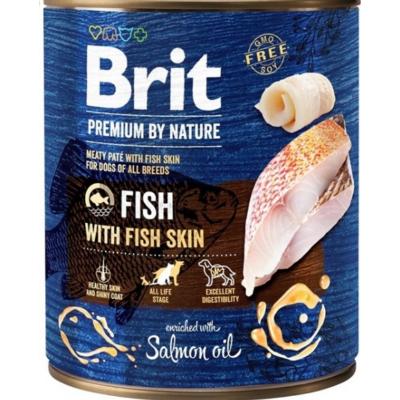 Brit Premium kutya konzerv hal-halbőr 800g