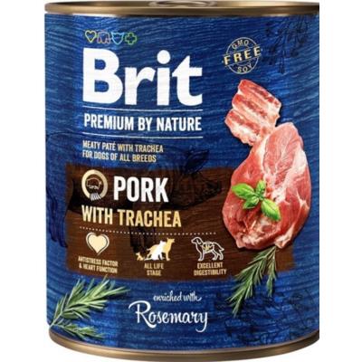 Brit Premium kutya konzerv sertés-légcső 800g