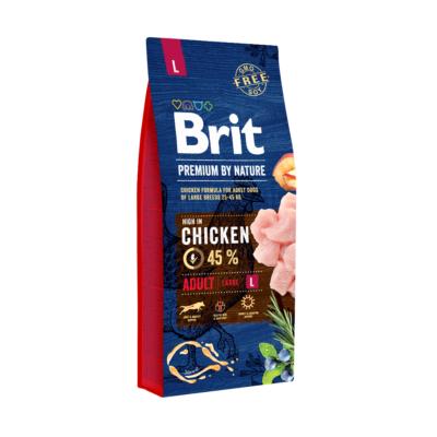 Brit PREMIUM kutyatáp NAGYTESTŰ kutyáknak Friss csirke 15 kg