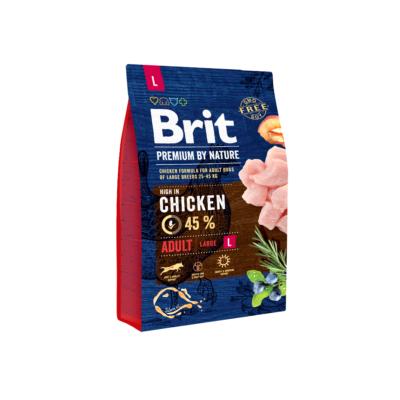 Brit PREMIUM kutyatáp NAGYTESTŰ kutyáknak Friss csirke 3kg