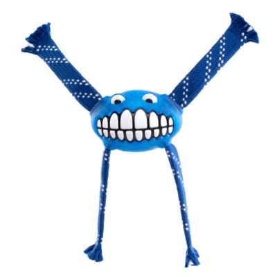 """Rogz FLOSSY GRINZ """"M"""" 21 cm Kék kutyajáték"""