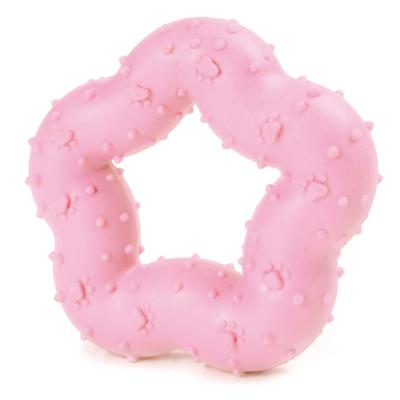 RECORD Primi Morsi kutyajáték TPR gumi kiscsillag rózaszín 9cm