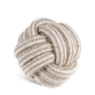 RECORD Natural cotton kutyajáték juta kötéllabda 10cm