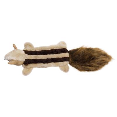 RECORD Kutyajáték plüss, sípoló csíkos mókus 40cm