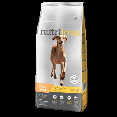 Nutrilove ACTIVE PRÉMIUM kutyatáp Friss csirke 12 kg