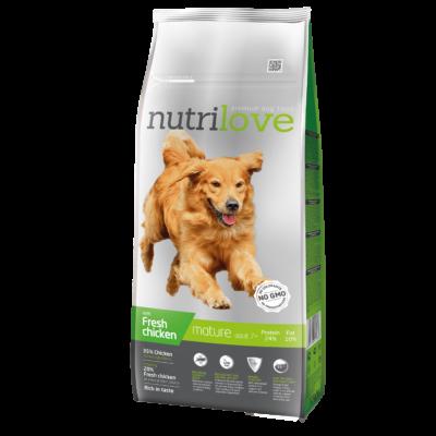 Nutrilove PRÉMIUM SENIOR kutyatáp Friss csirke 12 kg