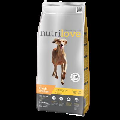 Nutrilove ACTIVE PRÉMIUM kutyatáp Friss csirke 3 kg