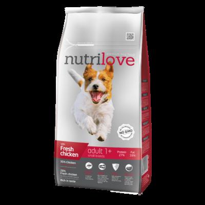 Nutrilove PREMIUM kutyatáp KISTESTŰ kutyáknak Friss csirke 8 kg