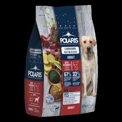 POLARIS Labrador fajtatáp FRISS HÚSSAL marha-pulyka 2,5 kg (GABONAMENTES)