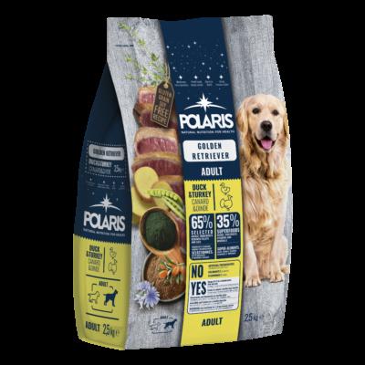 POLARIS Golden Retriver fajtatáp FRISS HÚSSAL kacsa-pulyka 2,5 kg (GABONAMENTES)