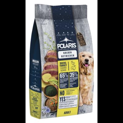 POLARIS Golden Retriver fajtatáp FRISS HÚSSAL kacsa-pulyka 12 kg (GABONAMENTES) + 2,5 kg ajándék