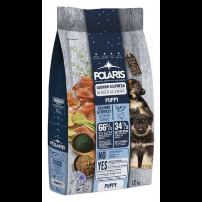 POLARIS JUNIOR Németjuhász fajtatáp FRISS HÚSSAL lazac-pulyka 12 kg (GABONAMENTES) + 2,5 kg ajándék