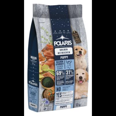 POLARIS JUNIOR Golden Retriver fajtatáp FRISS HÚSSAL lazac-pulyka 12 kg (GABONAMENTES) + 2,5 kg ajándék