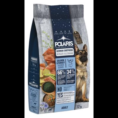 POLARIS Németjuhász fajtatáp FRISS HÚSSAL lazac-pulyka 12 kg (GABONAMENTES) + 2,5 kg ajándék
