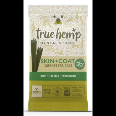 True Hemp Dog Dental Sticks Skin Coat 100g