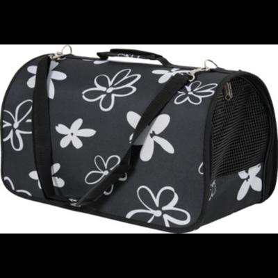 """Flower kutyahordozó táska fekete virágmintákkal """"M"""""""